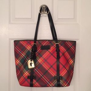 Dooney and Bourke plaid tote. Like new condition.